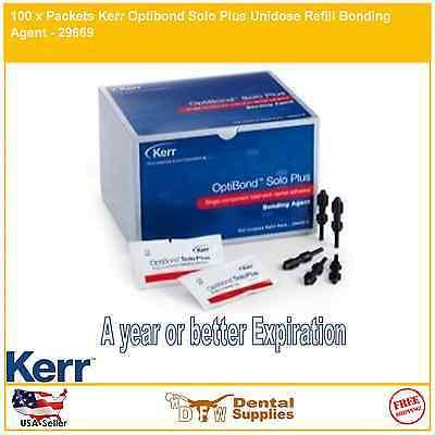 100 X Packets Kerr Optibond Solo Plus Unidose Refill Bonding Agent - 29669
