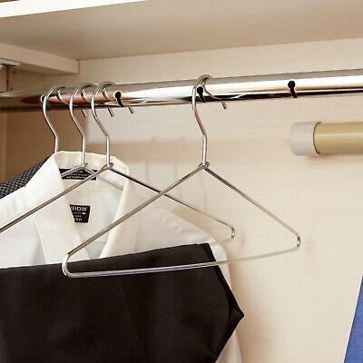 (50-Pack) Heavy Duty Open Hook Hotel Room Silver Metal Clothes Coat Hangers