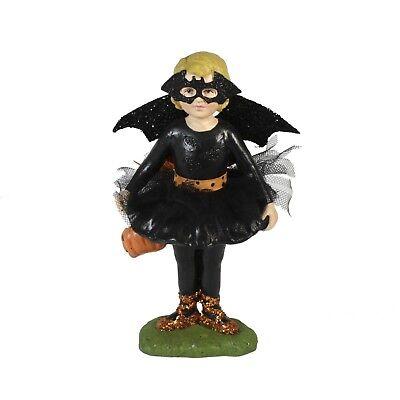 Bethany Lowe Ballerina Bat Girl Costume Halloween Glitter Figurine Retro Decor - Retro Batgirl Costume