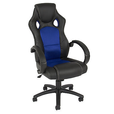 Executive Racing Office Chair PU Leather Swivel Computer Desk Seat High-Back on Rummage