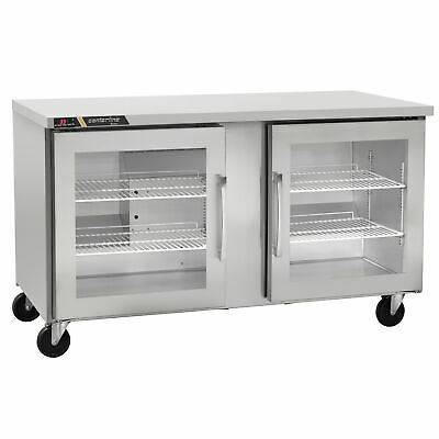 Traulsen Cluc-48r-gd-rr 48 Two Section Glass Door Undercounter Refrigerator