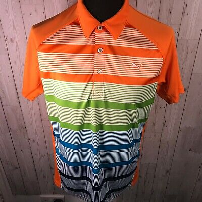 Puma Golf Polo Shirt - Bright Orange - Large - MINT Condition - Ricky Fowler