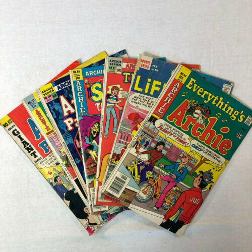 Lot of 7 Archie Comics Group Series Betty Sabrina Pals Vintage Classic