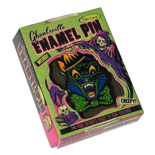 Crazy Scaredy Cat Enamel Retro Vintage Halloween Fashion Pendant Lapel Hat Pin