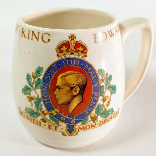 King Edward VIII Coronation 1937 Mug Cup antique Made In England, Lancasters LTD