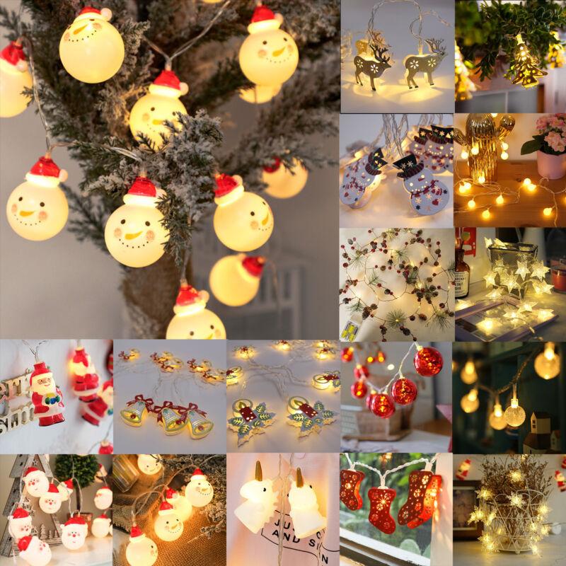 Christmas LED String Lights Snowman Fairy Indoor Outdoor Par
