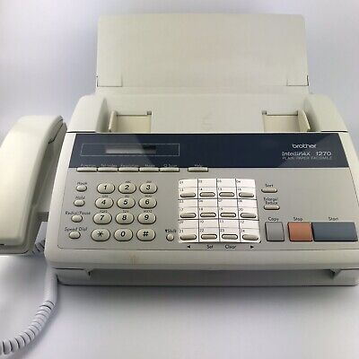 Brother Intellifax 1270 Plain Paper Fax Machine Phone Copier Working Perfectly