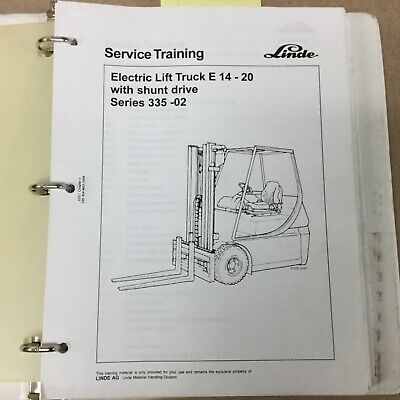 Linde E14-20 Series 335-02 Service Shop Repair Manual Electric Fork Lift Truck
