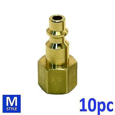 10pc Industrial Solid Brass Air Fittings 14 Npt Female M Type Plug
