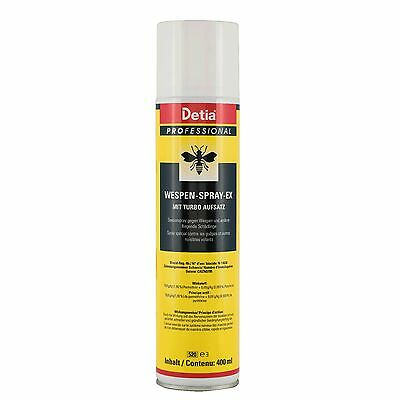 Detia Profesional Wespen-Spray-Ex 400ml Avispas Lucha Wespengift Turbo Nido
