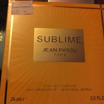 JEAN PATOU SUBLIME 75ML EDP £122 ON LABEL