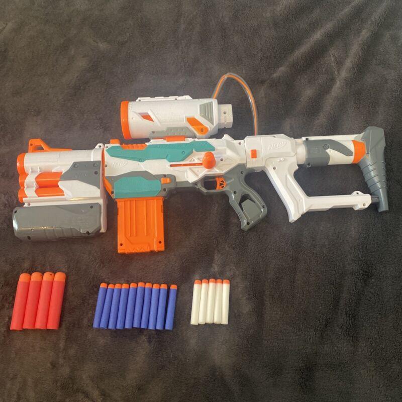 Nerf Modulus Tri-Strike Blaster Toy W/ Accessories Tested Working Good Condition