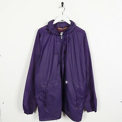 Vintage K-WAY Small Logo Soft Shell Anorak Windbreaker Jacket Purple | Large L