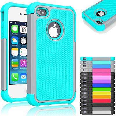 Hybrid Rugged Rubber Hard Shockproof Case Cover Skin for iPhone 5 SE 5S - Mobile Phone Skin