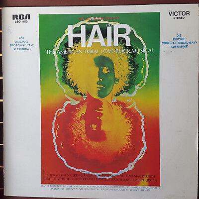 Hair - The Original Broadway Cast Recording GER LP von 1986  KULT