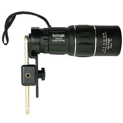 16x52 Zoom Hiking Concert Camera Lens Monocular Telescope +