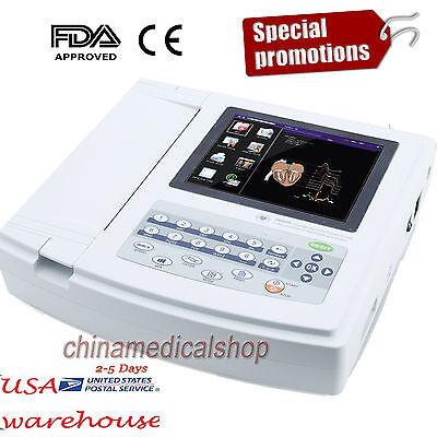 Us Digital 12-channel 12-lead Electrocardiograph Ecgekg Machine Interpretation