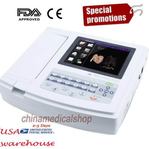 US Digital 12-channel 12-lead Electrocardiograph ECG/EKG Machine interpretation
