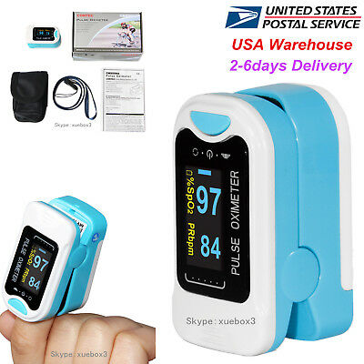 Fda Finger Tip Pulse Oximeter Blood Oxygen Meter Rate Monitor Oled Contec 50na