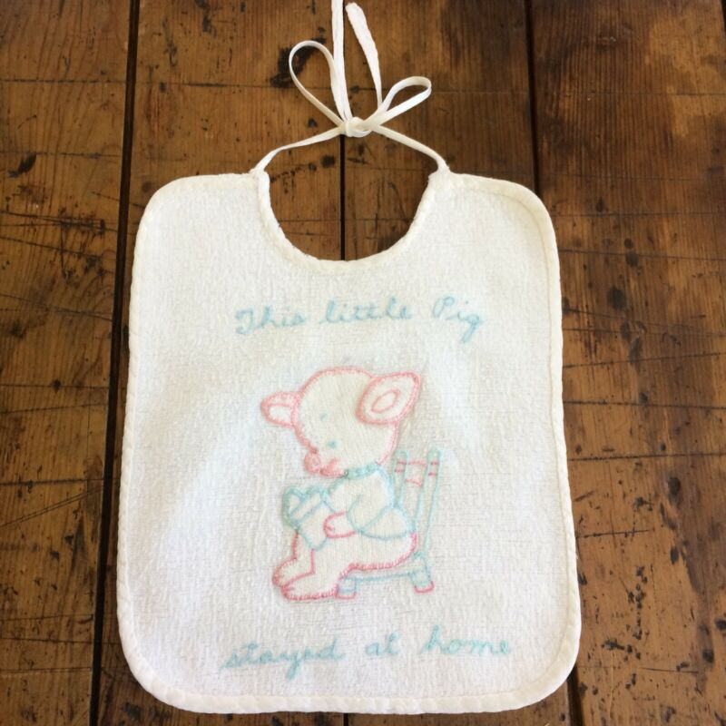VINTAGE EMBROIDERED BABY BIB