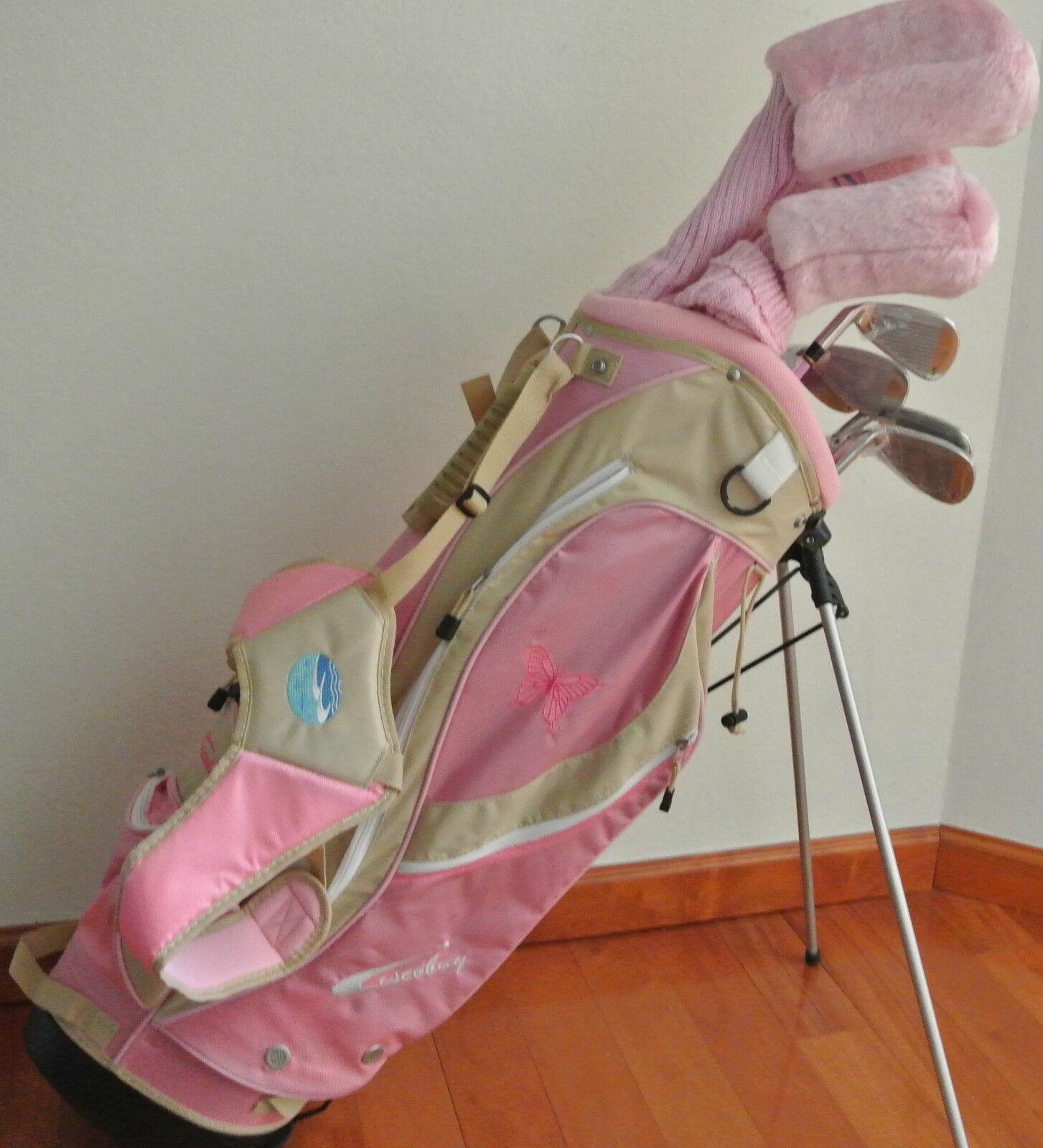 New Ciscobay Hybrid Golf Clubs Ladies Club Pink Set 17 PCS P