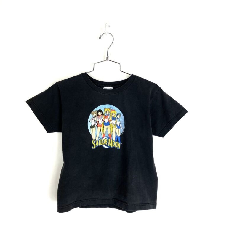 Vintage 90s Sailor Moon T Shirt Size Large Youth Girls Boys Womens Small