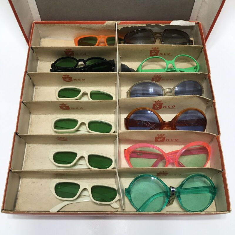 Vintage Sunglasses Italy MOD Big Eye Oval Rockabilly Kids 60s 70s 80s Display