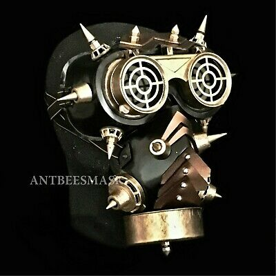New Halloween Science Fiction Steampunk FlipUp Goggles Burning Man Gas Mask](Science Fiction Halloween)