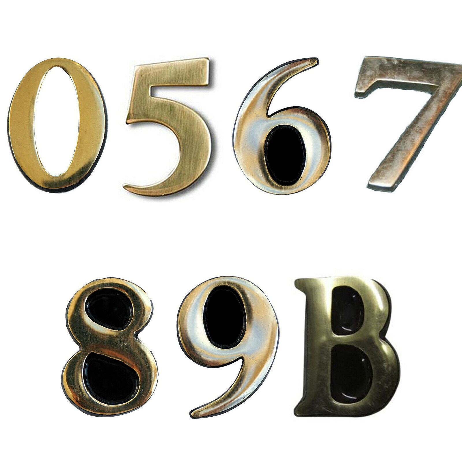 """3/"""" Solid Brass Self Adhesive Letter T"""