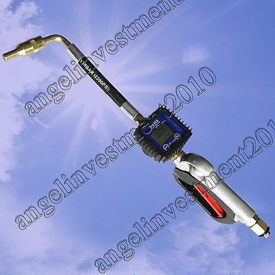 NEW Digital Oil & Lubricant Nozzle Gun + Flow Meter
