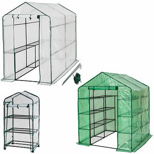 serre de jardin metal pe plastique tente abri l gume fruit plante ebay. Black Bedroom Furniture Sets. Home Design Ideas