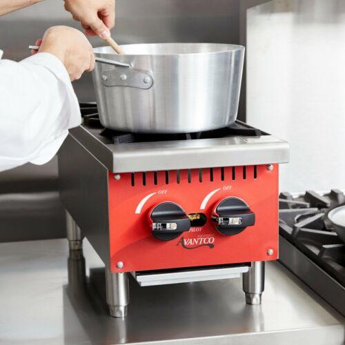 "12"" 2 Burner Gas Range Hot Plate Countertop Restaurant Commercial Propane Lp"