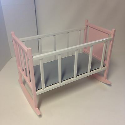 Solid Wood Doll Crib, MADE IN WISCONSIN  (fits American Girl dolls)
