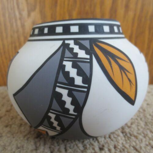 Pueblo Pottery Bowl Signed Spring Storm #5