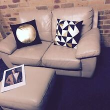 Leather Lounge Suite With Ottoman - THE LUCAS LOUNGE SUITE Dandenong North Greater Dandenong Preview