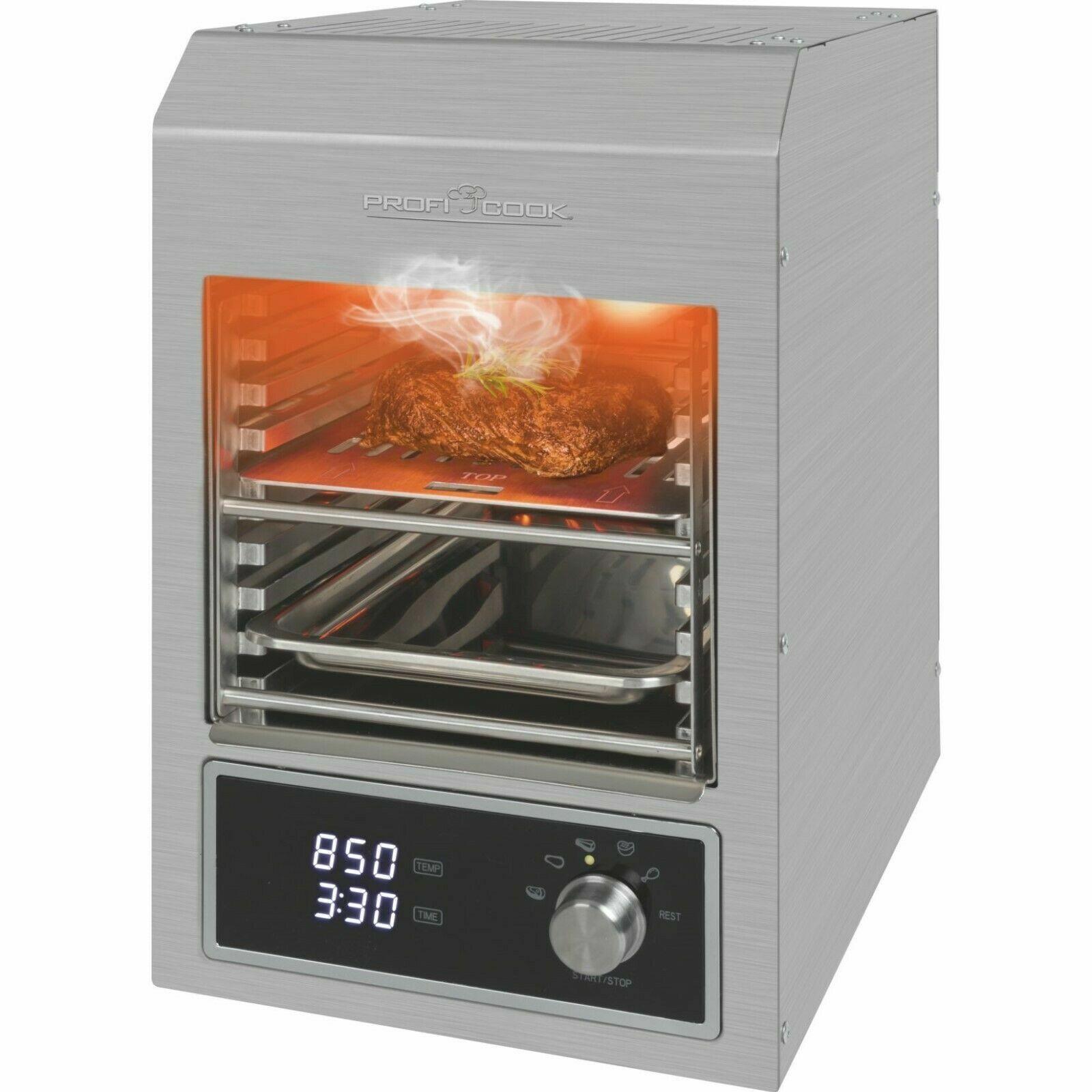 ProfiCook PC-EBG 1201 Elektro Beef-Grill BBQ Elektrogrill Für Steak / Fleisch /