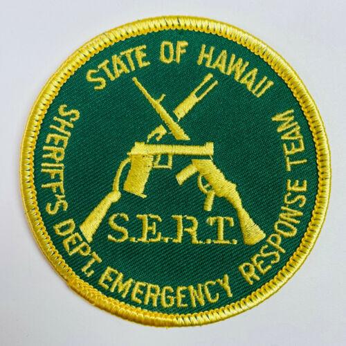 Hawaii Sheriff SERT Emergency Response Team SWAT Patch