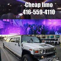 $199-Guelph limo limousine rental stretch 416-559-4110