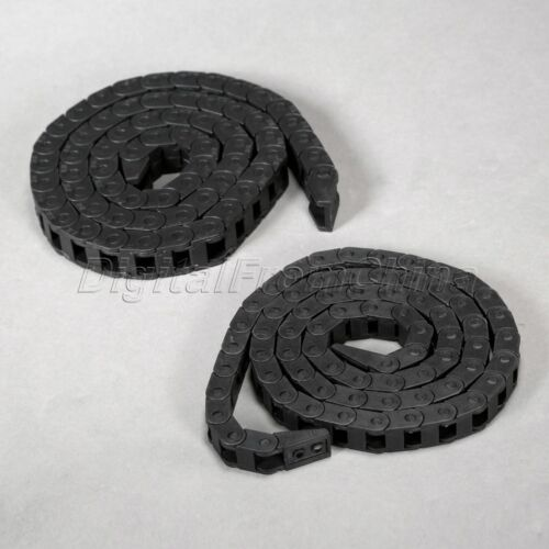 """5pcs Cable Drag Chain Wire Carrier 10*10mm 10mm x 10mm R18 1000mm 40/"""" for CNC"""