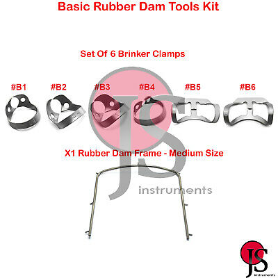 Rubber Dam Clamp Premolar Tissue Brinker Clamps Endodontic Rubber Dam Frame