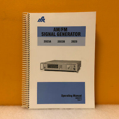 Ifr 46882373 2023a 2023b 2025 Amfm Signal Generator Operating Manual