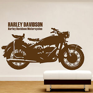 Cool harley davidson motorcycle family art vinyl decal for Deco harley davidson