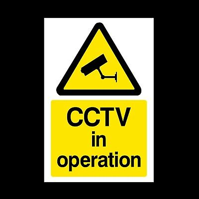 CCTV In Operation A5 Rigid Plastic Sign 150x200mm Security, Surveillance