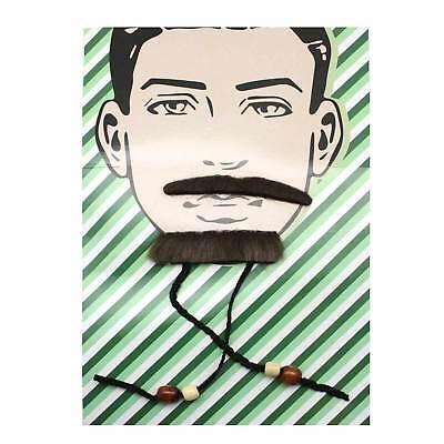 Mustache Beard Set Brown Braids Beads Tribal Warrior Khal Drogo Pirate Costume