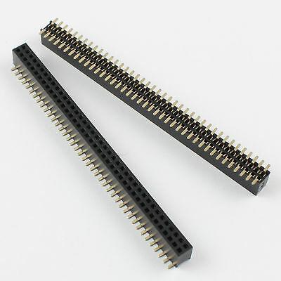 50pcs 1.27mm Pitch 2x40 Pin 80 Pin Female Double Row Smt Smd Pin Header Strip