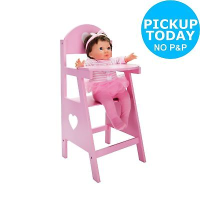Chad Valley Babies to Love Wooden Doll's Highchair 59cm 3+ Years