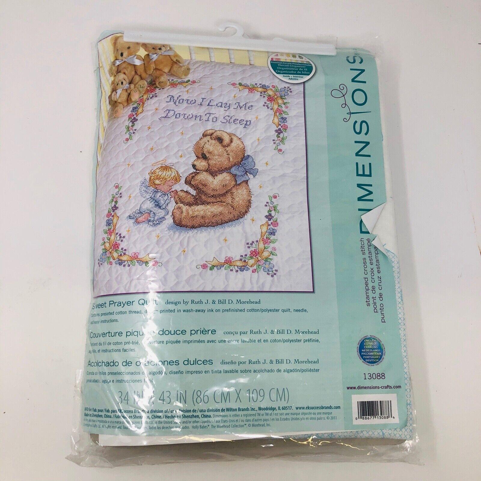 Sweet Prayer Quilt Stamped Cross Stitch Kit
