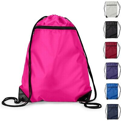 Zippered Pocket Drawstring Bag Backpack Cinch Sack  - Cinch Backpack