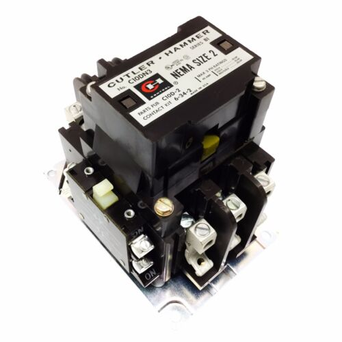 C10DN3AB Cutler Hammer Magnetic Contactor with Interlock, Series B1