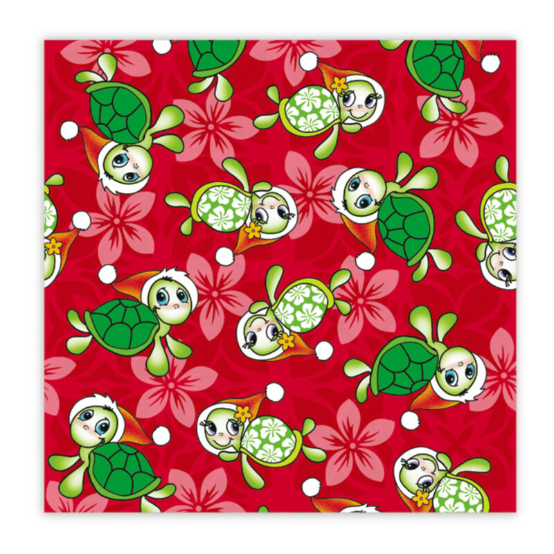 Mele Honu Hawaii Christmas Holiday Continuous Gift Wrap Paper 2 Rolls
